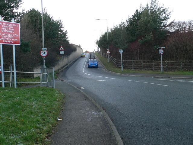 Sliproad onto the A55 at Llanddulas