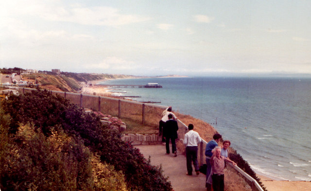 Bournemouth From West Cliff 1981