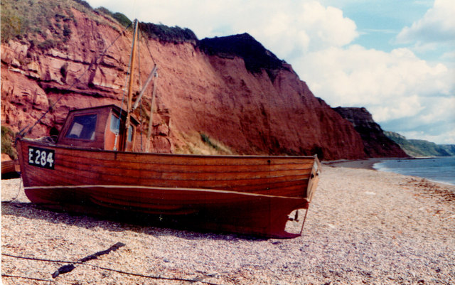 Sidmouth  Cliffs 1981