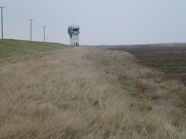 RAF Holbeach - Control tower on the edge of the salt marsh