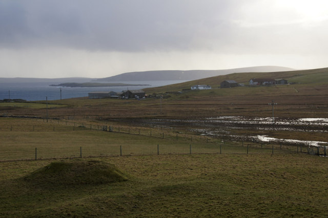View south from Muness Castle