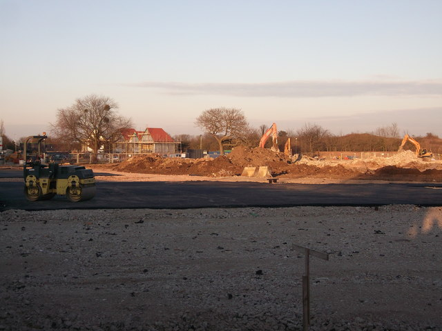 Construction site on former Mid Kent College