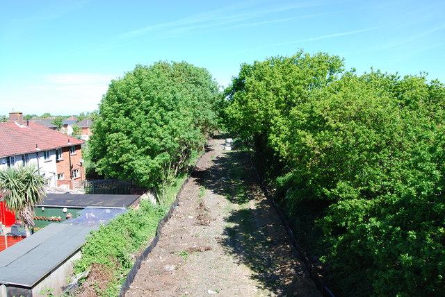 Fareham to Gosport BRT - View from Gregson Avenue Bridge (9)