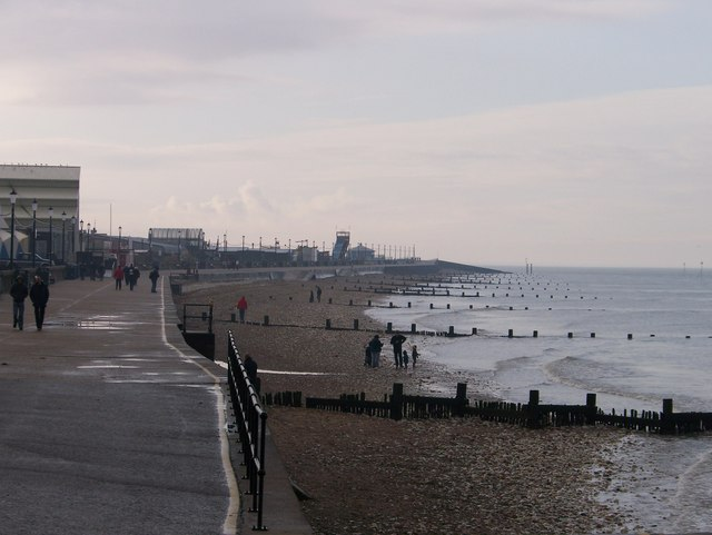 The seafront at Hunstanton