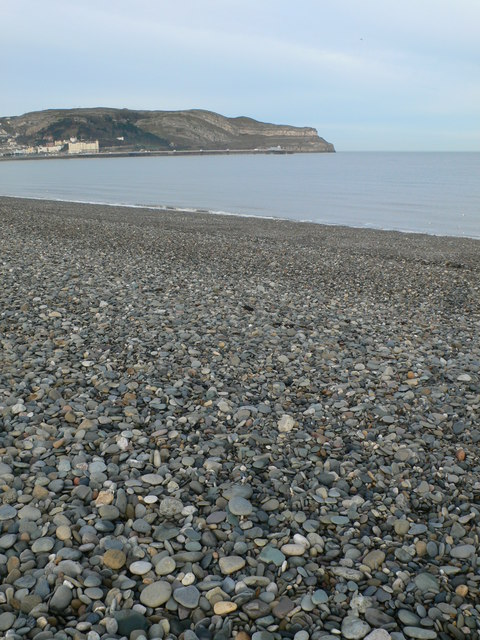 Pebble beach at Craig y Don