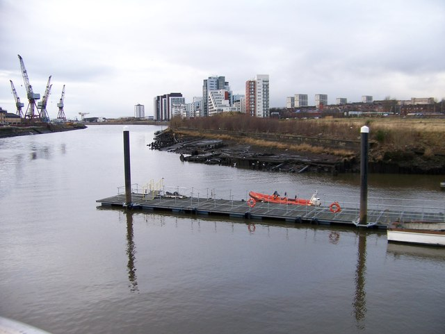 The River Clyde, looking downstream from the Riverside Museum