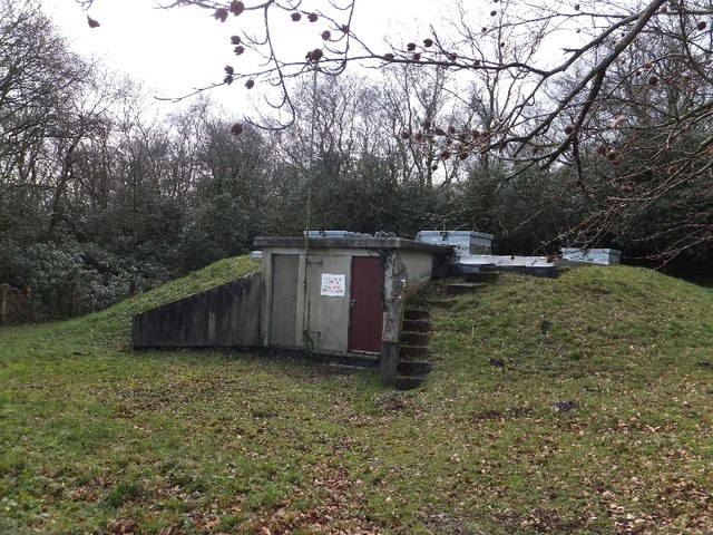 Covered reservoir in Beacon Park Plantation