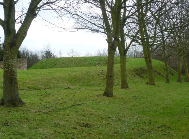 Earthwork at Dairsie Castle