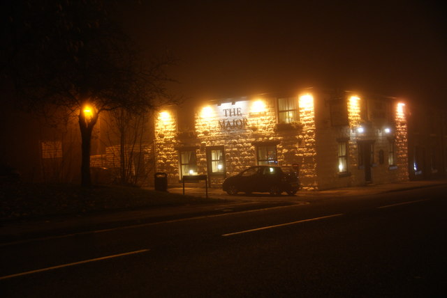 The Major on a foggy evening