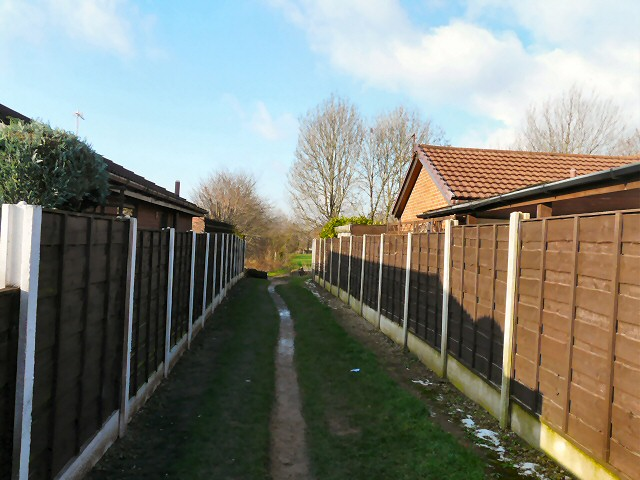 Footpath from Elm Street