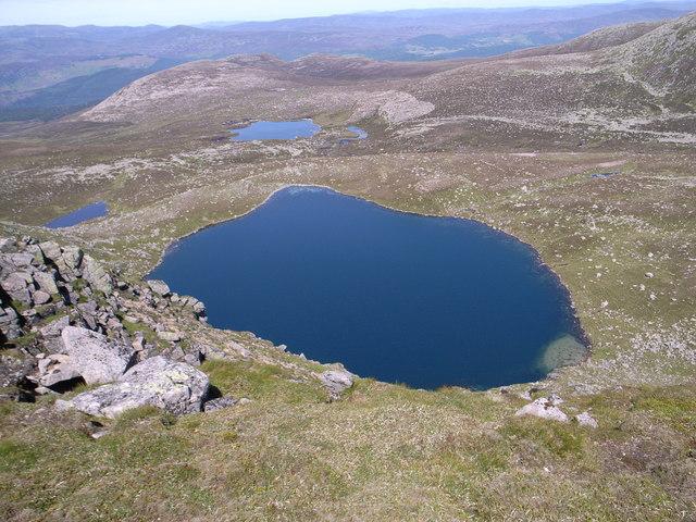 Loch nan Eun and the Sandy Loch