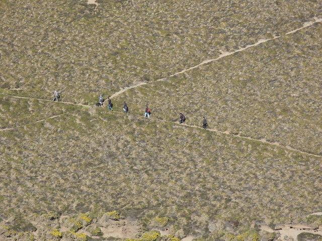 Walkers on Coastal Path