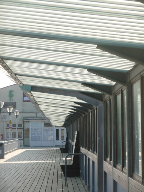Bournemouth: the shady side of the pier canopy