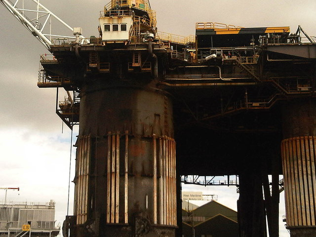 Oil Rig Closeup