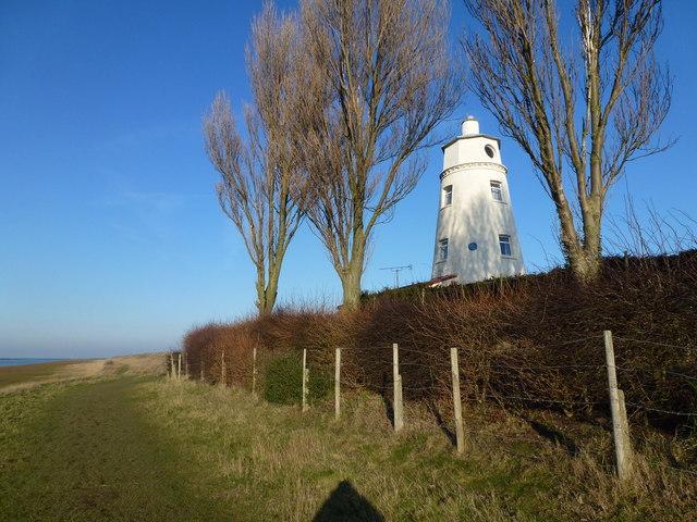 East bank lighthouse near Guy's Head north of Sutton Bridge