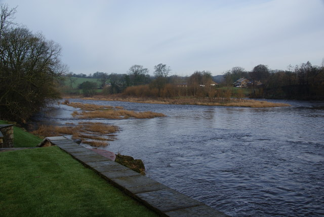 The River Ribble at Balderstone Hall