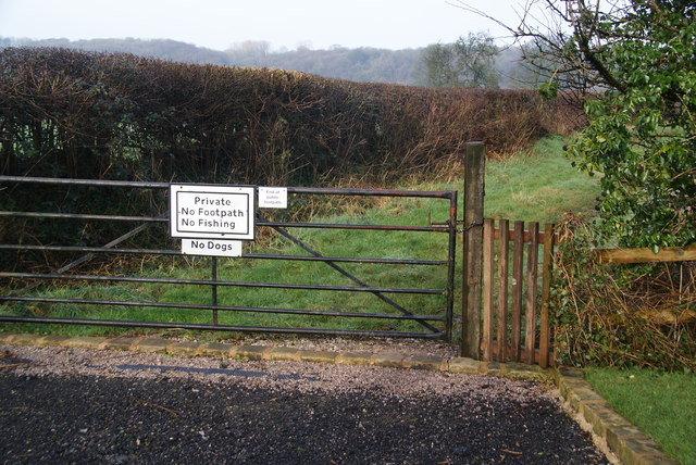 The end of public access at Balderstone Hall