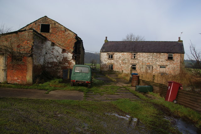 Disused farm near Balderstone Hall