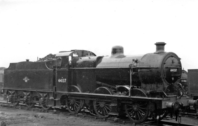 LMS Fowler 4F at Derby Locomotive Depot