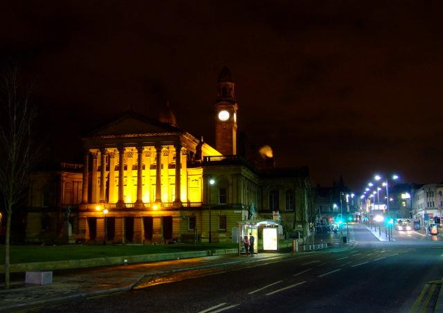 Floodlit Paisley Town Hall