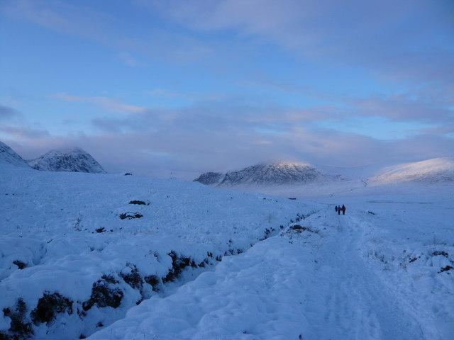 West Highland Way approaching Glencoe
