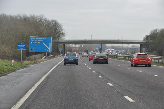 North Somerset : M5 Motorway Northbound