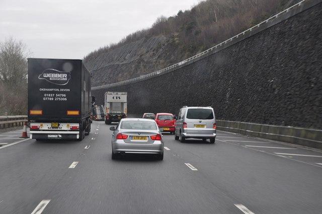 North Somerset : M5 Motorway Northbound
