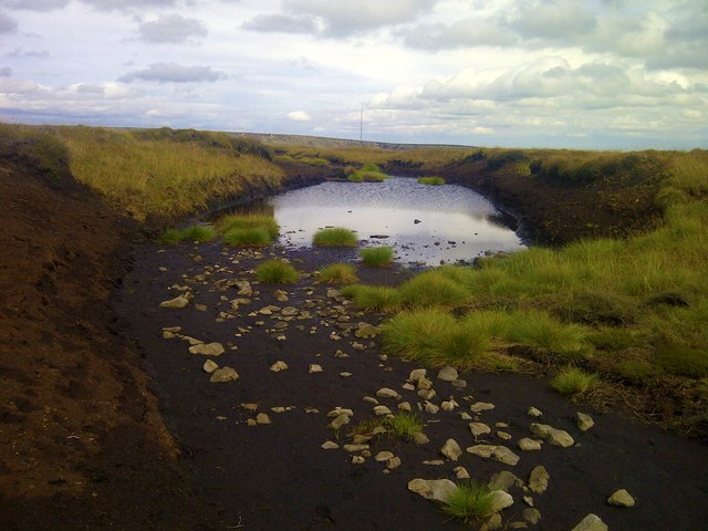 Moorland Tarn at Black Chew Head