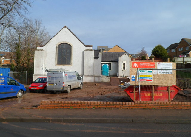 Building work in progress, Panteg Methodist Church, New Inn
