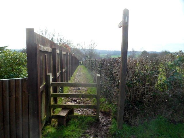 Footpath to St Mary's church, Panteg
