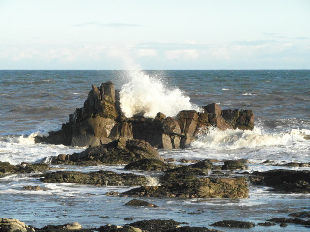 Rough sea at Creagan Dubba