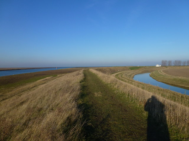 Near the mouth of the River Nene on the east bank