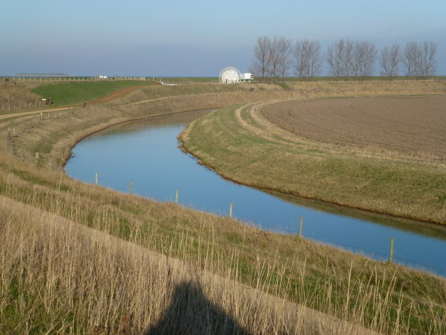 Drainage channel near the mouth of the River Nene