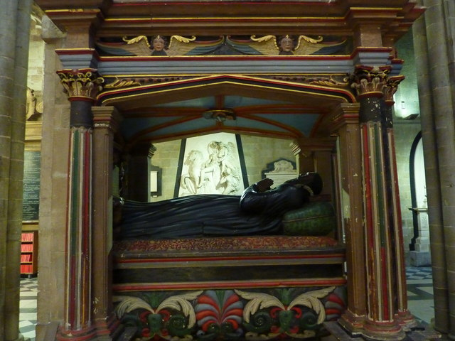 Tomb and marble memorial, Worcester Cathedral