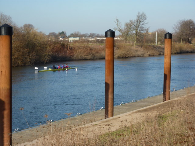 Four ladies rowing