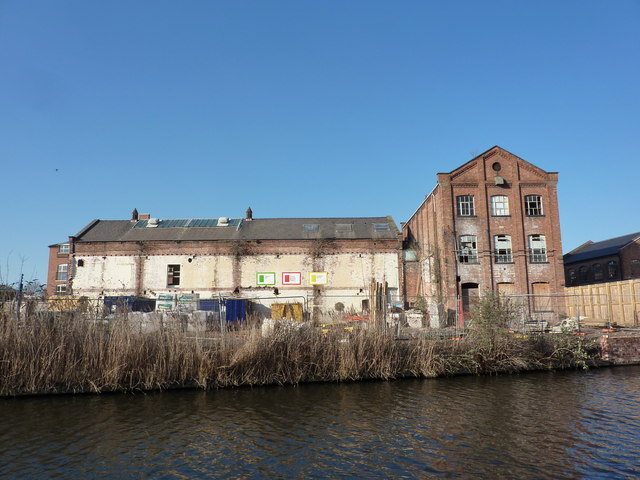 Back of builders' yard, on the canal