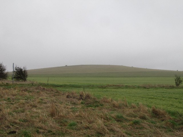First sight of Lowbury Hill