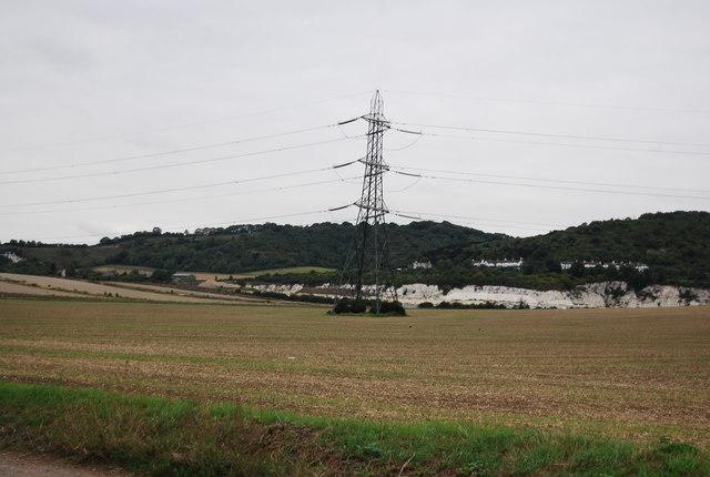 Pylon in a fallow field