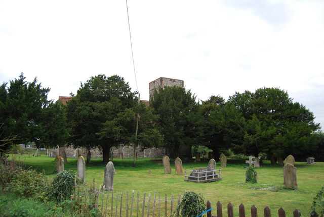 Burial ground by Burham Church