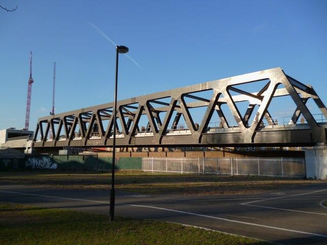 New railway bridge, Bratley Street E2