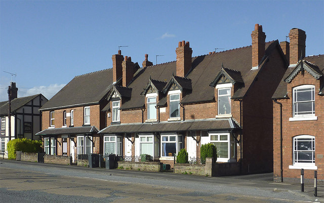 Housing on Stafford Road, Penkridge