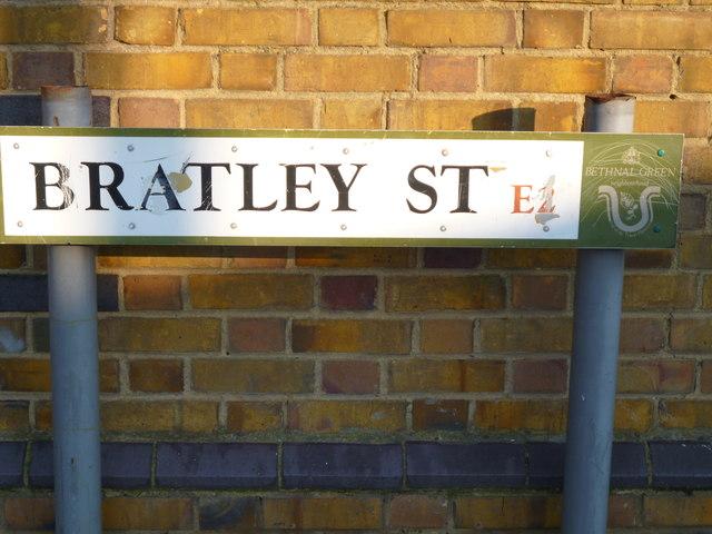 Street sign, Bratley Street E2