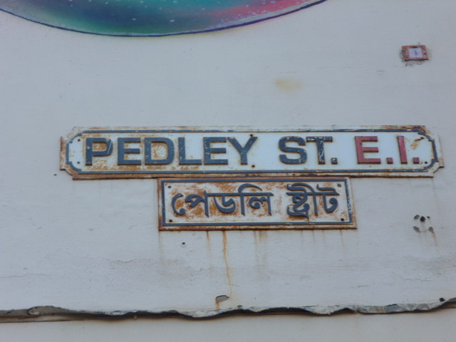 Street sign, Pedley Street E1