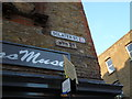 TQ3382 : Street sign, Sclater Street E1 by R Sones