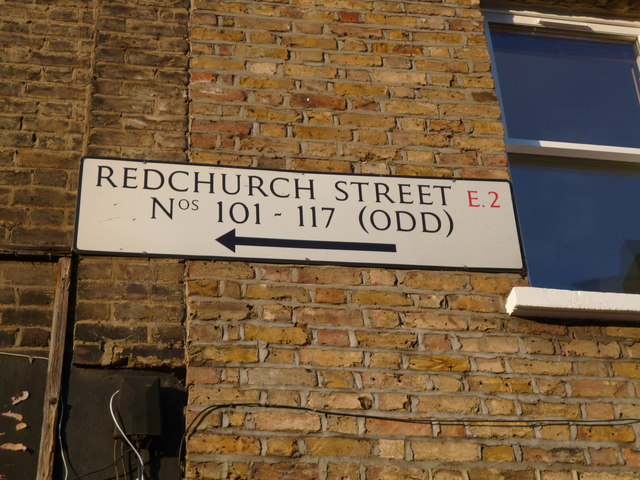 House direction sign, Redchurch Street E2