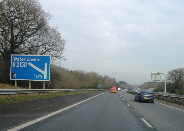 Approaching junction 3, A3