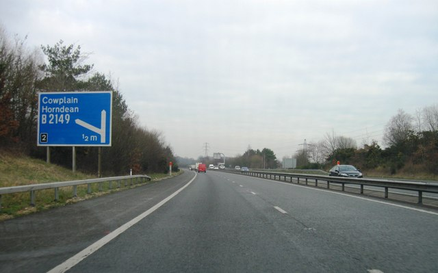A3, Approaching junction 2