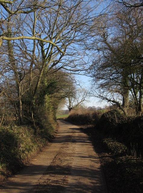 Lane east of Sandfield Farm