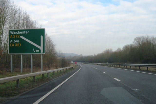 A3, approaching A272 turning
