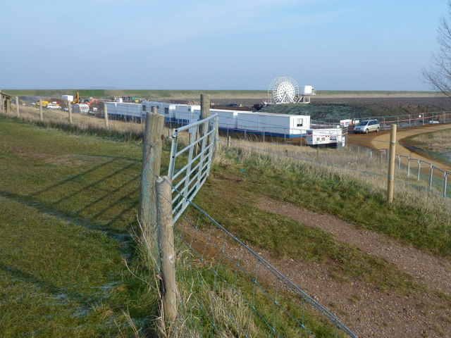 Temporary village at the mouth of the River Nene